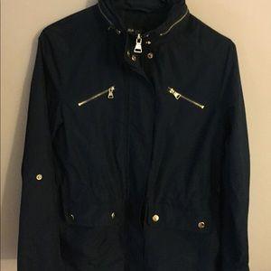 Beautiful Navy Blue Rain Coat